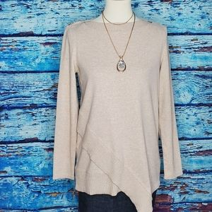 Rafaella Cream Long Sleeve Sweater Size Medium